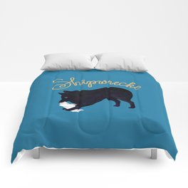 Shipwrecke (Blue and Beige) Comforters