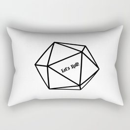 Let's Roll! D20 Rectangular Pillow