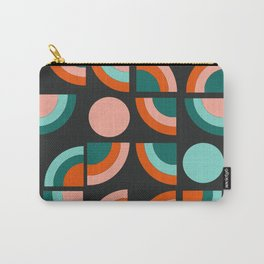 Spiffy - 70's retro throwback minimal geometric trendy colors art 1970s Carry-All Pouch