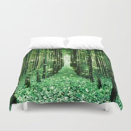 Magical Forest Green Elegance Duvet Cover