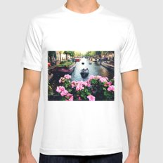 in love with Amster  MEDIUM White Mens Fitted Tee