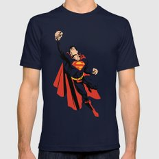 DC - Superman Navy Mens Fitted Tee MEDIUM