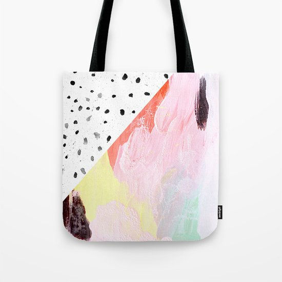 Polka Dots & Paint Tote Bag
