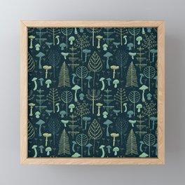 Magic Forest Green Framed Mini Art Print