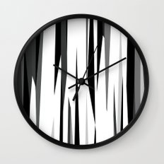 Black White and Gray Abstract 2 Wall Clock