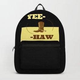 Great Yee-Haw Cowboy Western Saloon Sheriff Design Backpack