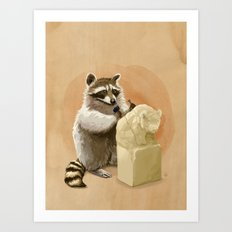 Raccoon in Pursuit of Perfection Art Print