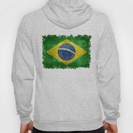 Vintage Brazilian National flag with football (soccer ball) Hoody