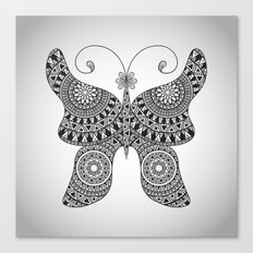 Drawn Butterfly Canvas Print