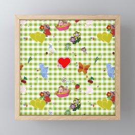 Favorites (with gingham) Framed Mini Art Print