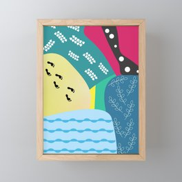 Abstract summer route Framed Mini Art Print