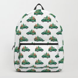 Cute Merry Christmas Xmas Gift Watercolor Pattern Backpack