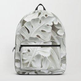 White leaf, plants background Backpack