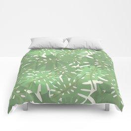 Vintage Florida Palm Fronds Pattern Comforters