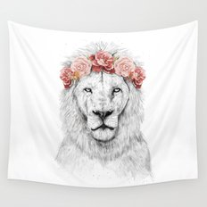 Festival lion Wall Tapestry