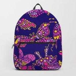 Butterfly Pattern Pink Purple Blue Backpack