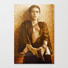Frida Gun Canvas Print
