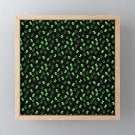 Aliens-Green Framed Mini Art Print