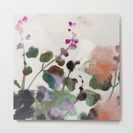 floral abstract summer autumn Metal Print