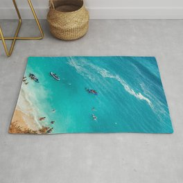 Beach from above Rug