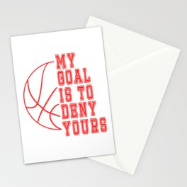 "Grab it if you understand it!Think its the right tee for you?Have it now! ""My Goal Is To Deny Yours! Stationery Cards"