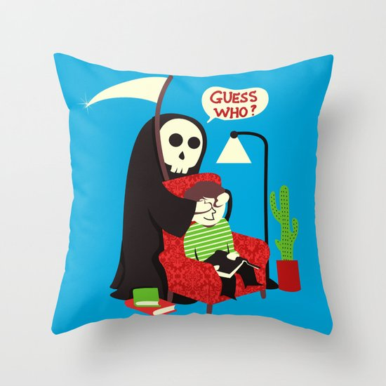 Guess Who Throw Pillow