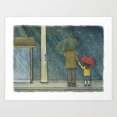 Daughter Rain Art Print
