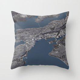 Seattle City Map II Throw Pillow