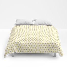 Yellow Delicate Flowers Comforters