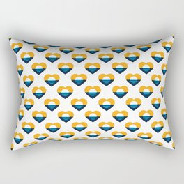 Heart of MKE - People's Flag of Milwaukee Rectangular Pillow