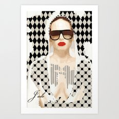 Jade. GEOMETRIC BEAUTY SERIES Art Print