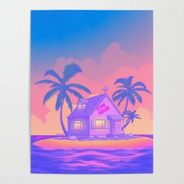 80s Kame House Poster