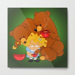 Goldilocks and the Three Bears Metal Print