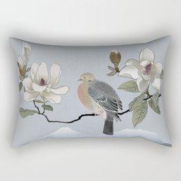 Mourning Dove And Magnolia Rectangular Pillow