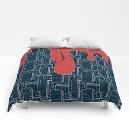 Drips (navy) Comforters