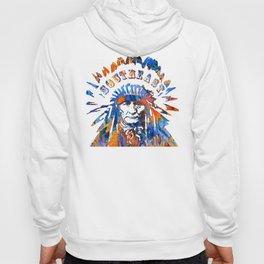 Southeast Native American Logo Design by Sharon Cummings Hoody
