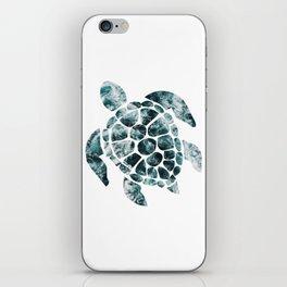 Sea Turtle - Turquoise Ocean Waves iPhone Skin