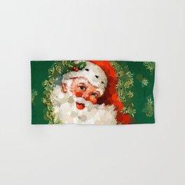 Bubble Dot Santa Christmas Hand & Bath Towel
