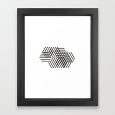 #440 Passers-by – Geometry Daily Framed Art Print