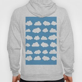 White clouds on a blue skies Hoody