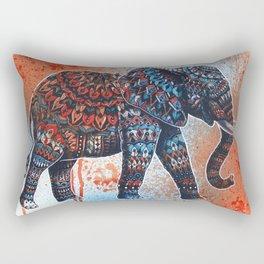 Tangerine Sky Elephant Rectangular Pillow