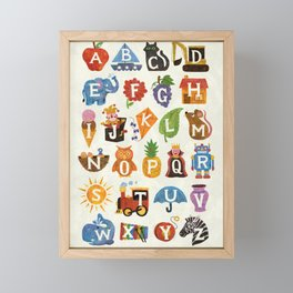 Alphabet Framed Mini Art Print