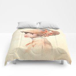 Audrey Hepburn - Eliza Doolittle - Watercolor Comforters