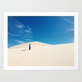 Eureka dunes Art Print