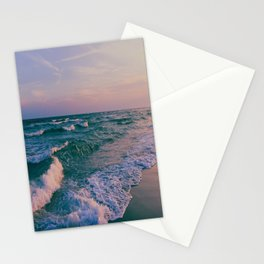 Sunset Crashing Waves Stationery Cards