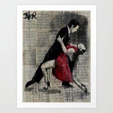 midnight tango Art Print
