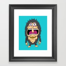 Hot Dog Piece Framed Art Print