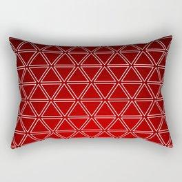 Triangular, Red Rectangular Pillow