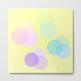 Muster Kreise Punte gelb Metal Print
