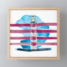 Follow me till the end of the stripes in the sky Framed Mini Art Print